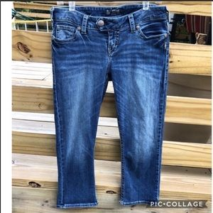 Silver Tuesday low rise jean capris